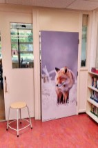 Basisschool deur met vossenfoto