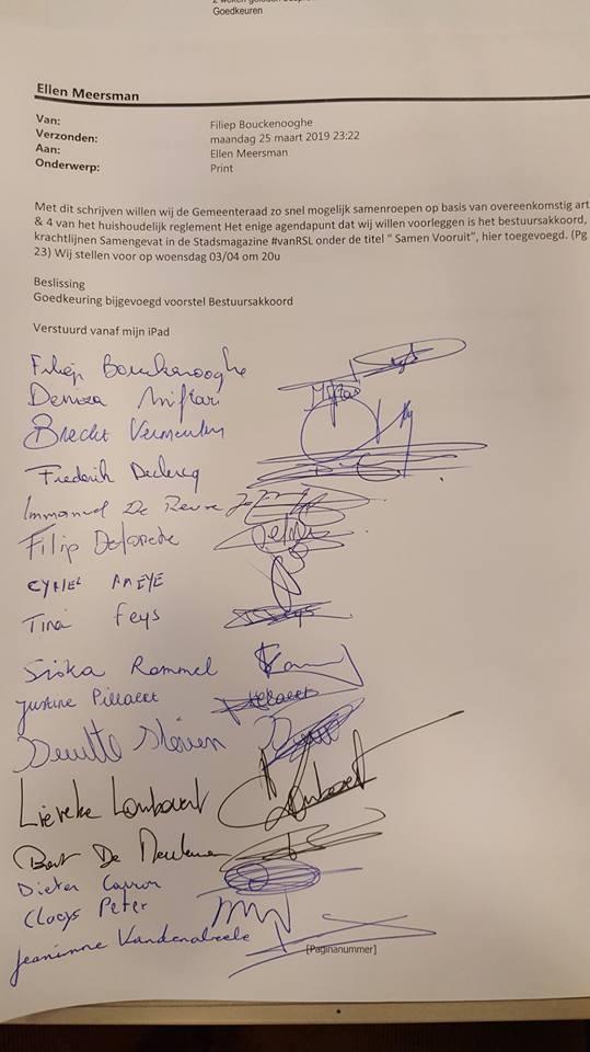 Groen en N-VA vragen samen met Vlaams Belang extra gemeenteraad