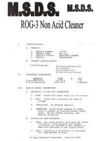 ROG 3 MSDS page 1