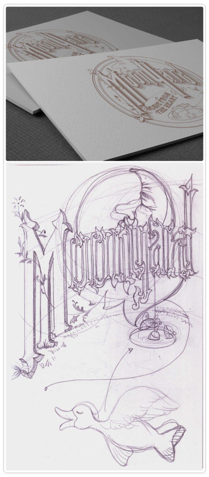 MoonYard logo sketch