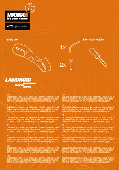 Landroid manuale di istruzioni montaggio accessori