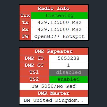 OpenGD77 – Hotspot mode – Roger Clark