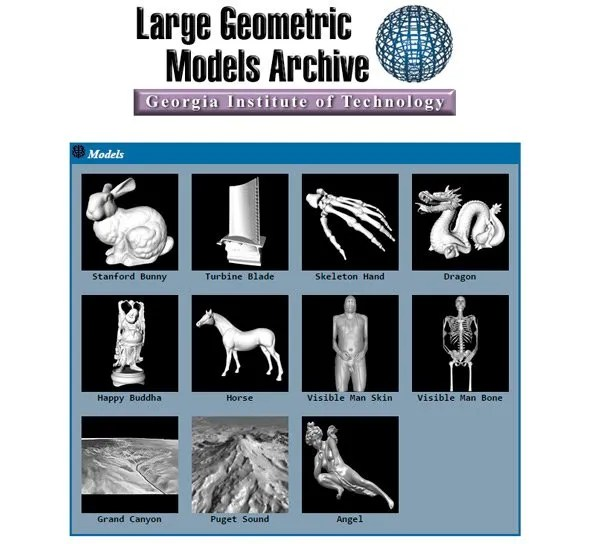 Large Geometric Models Archive | www.cc.gatech.edu/projects/large_models