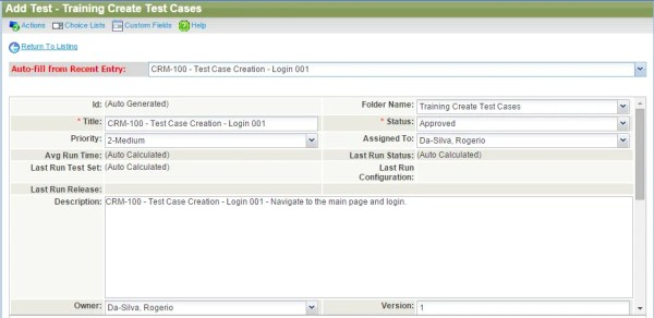 Test Case Creation and Trace-ability in QA Complete