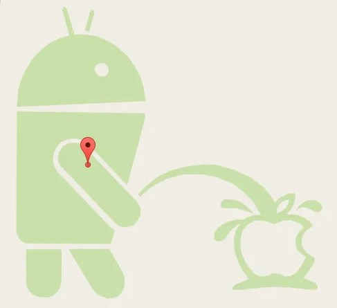 Android_Robot_Pissing_on_Apple