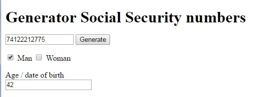 PESEL social security number generator for Poland