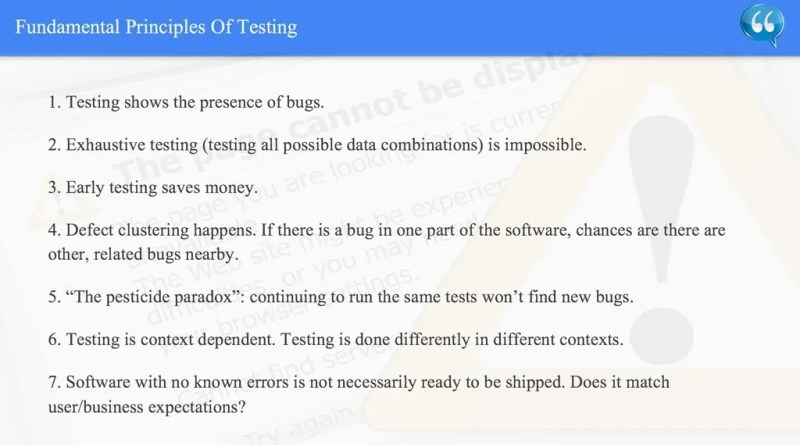 Fundamental Principles Of Testing - ISTQB