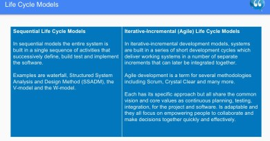 Life Cycle Models - Software Testing
