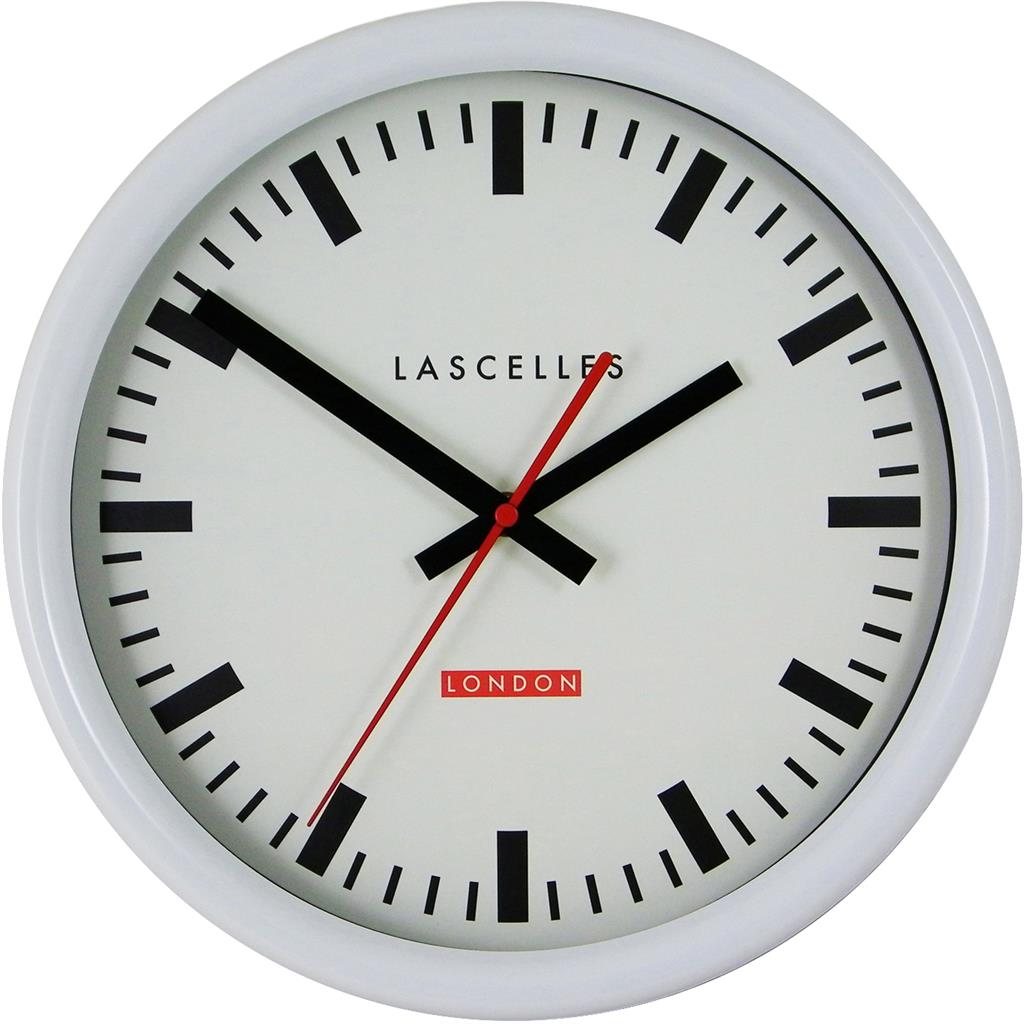 White Swiss Inspired Station Clock Sweep Second Hand 30cm