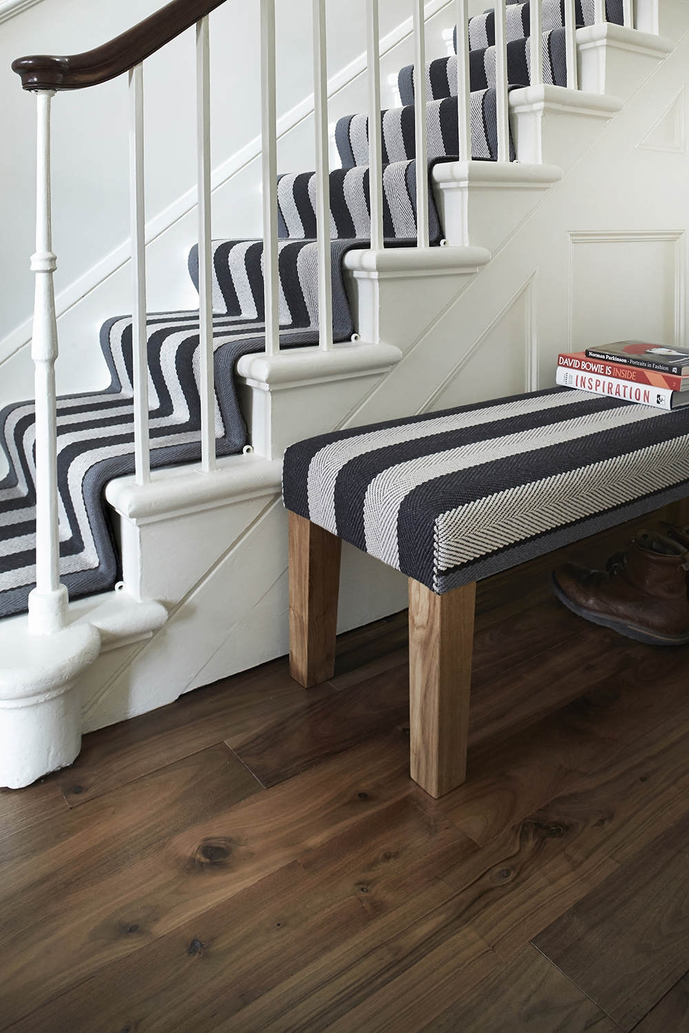 Inspiration Lifestyle Gallery Fitzroy Black Bench Roger   Roger Oates Stair Runners   Wooden   Wood Staircase Carpet   Corner   Pinterest   Carpet