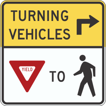 yield to pedestrian