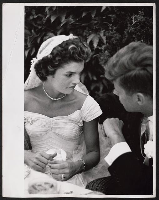 Jackie and John Kennedy wedding