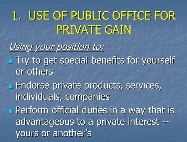 public office for private gain
