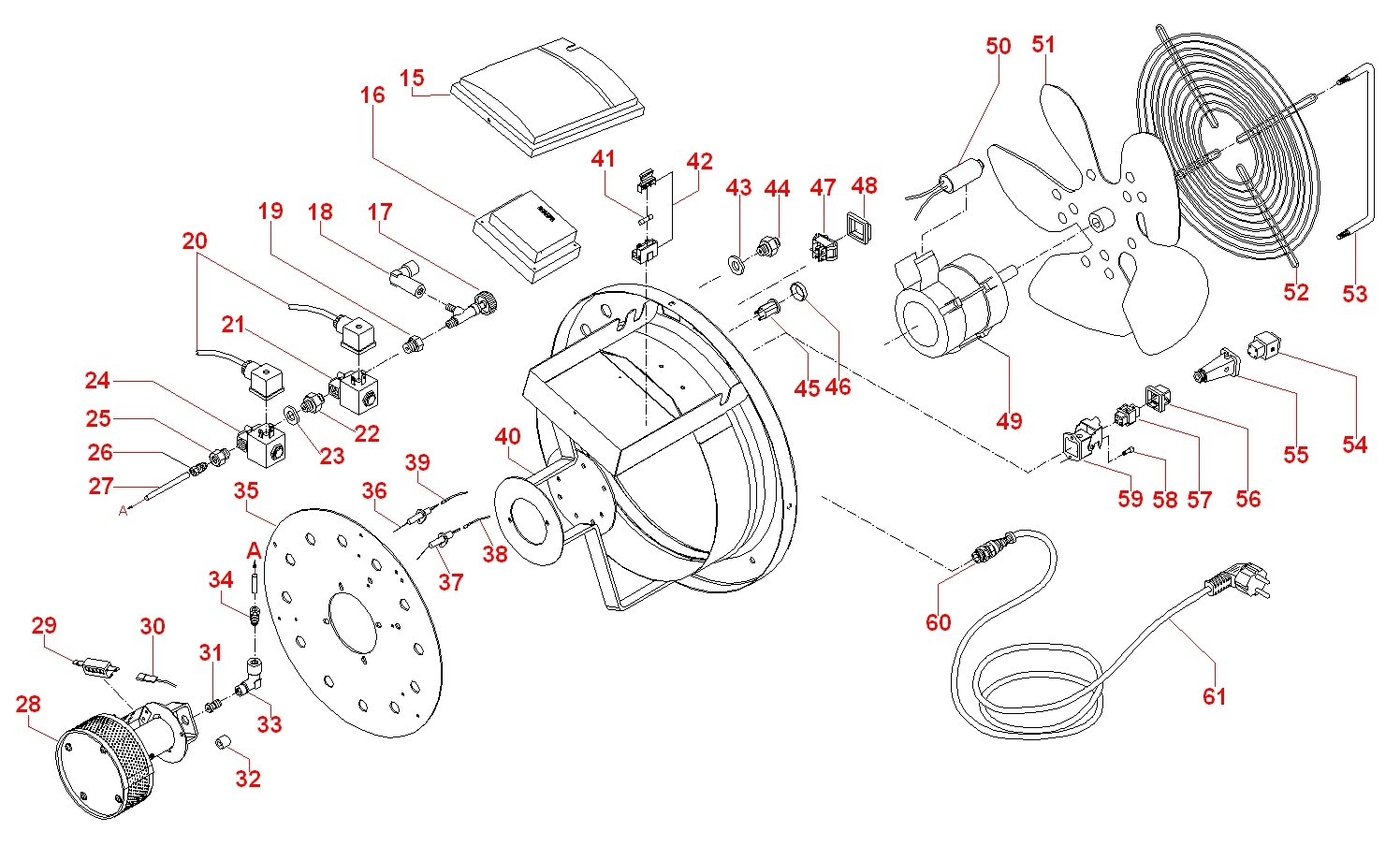 Munters Sial Argos 100 Ae Exploded View
