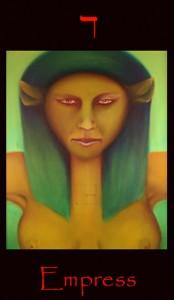 Tarot Empress major arcana tarot card by Roger Williamson
