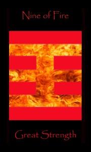 Tarot Nine Wands, Fire, Great Strength, tarot cards, tarot deck,
