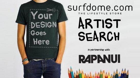 SURFDOME AND RAPANUI'S ARTIST SEARCH - Become a designer for eco fashion brand Rapanui