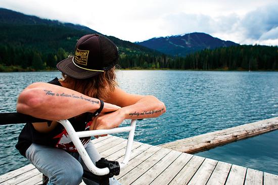 Rogue Mag Snow Logan Farrow waits for the season to start at Whistler