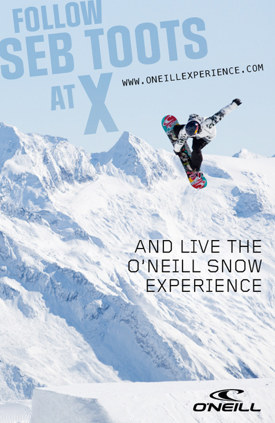 Rogue Mag Snow - Follow Seb Toots at the Winter X Games with the ONeill Experience