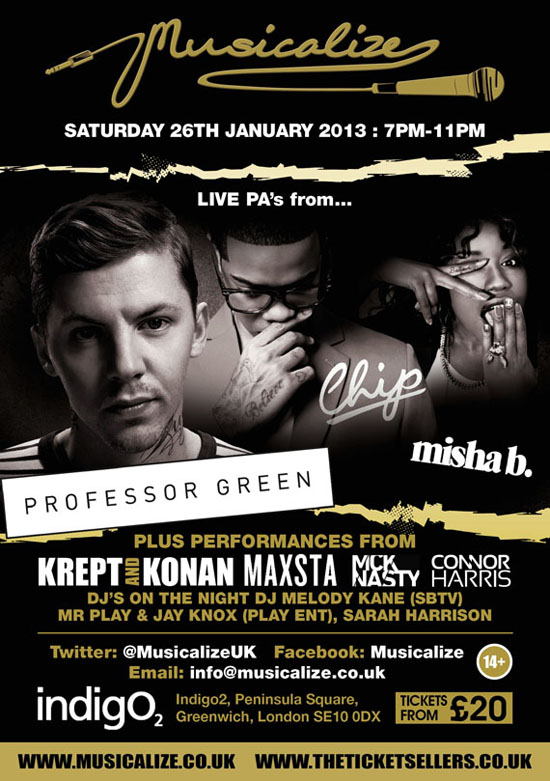 Rogue Mag Music - Win 2 tickets to see MckNasty at Musicalize on 26th January 2013