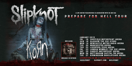Rogue Mag Music - Slipknot return to the UK in 2015 with special guests Korn