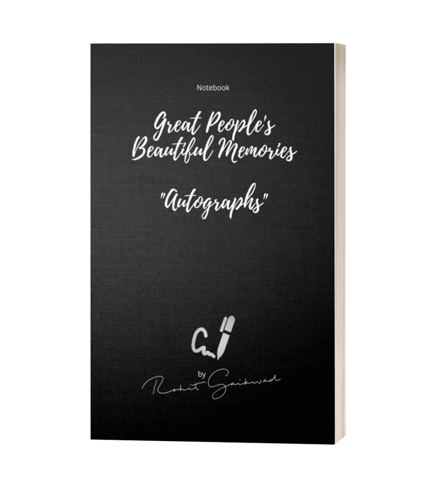 autographs notebook by rohit gaikwad