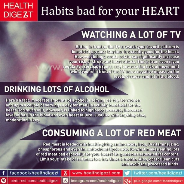 Habits bad for your Heart