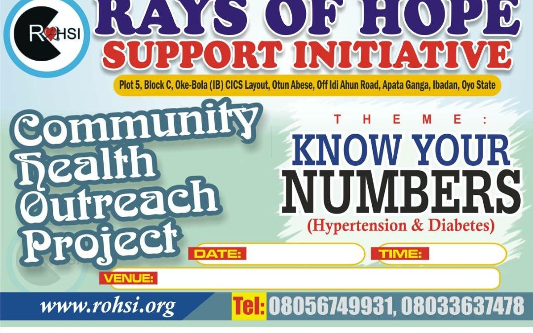 RAYS OF HOPE SUPPORT INITIATIVE COMMUNITY HEALTH PROJECT