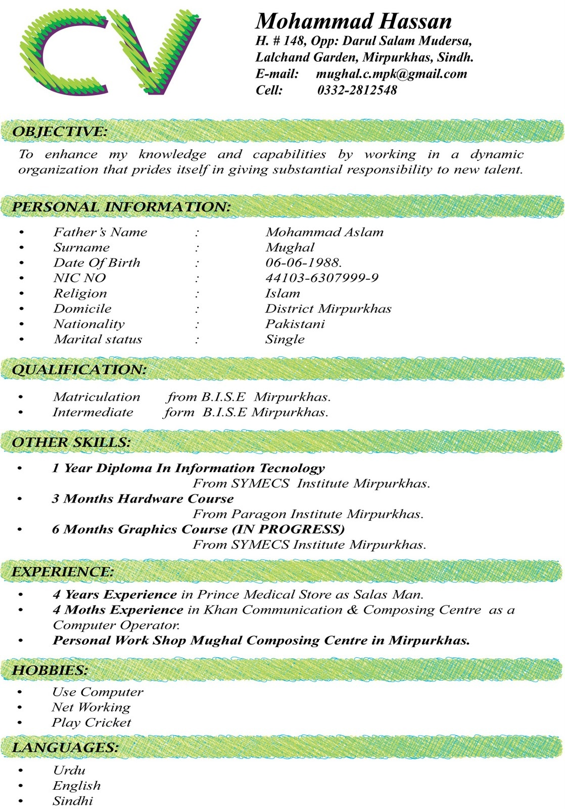 chronological is very popular cv curriculum vitae format