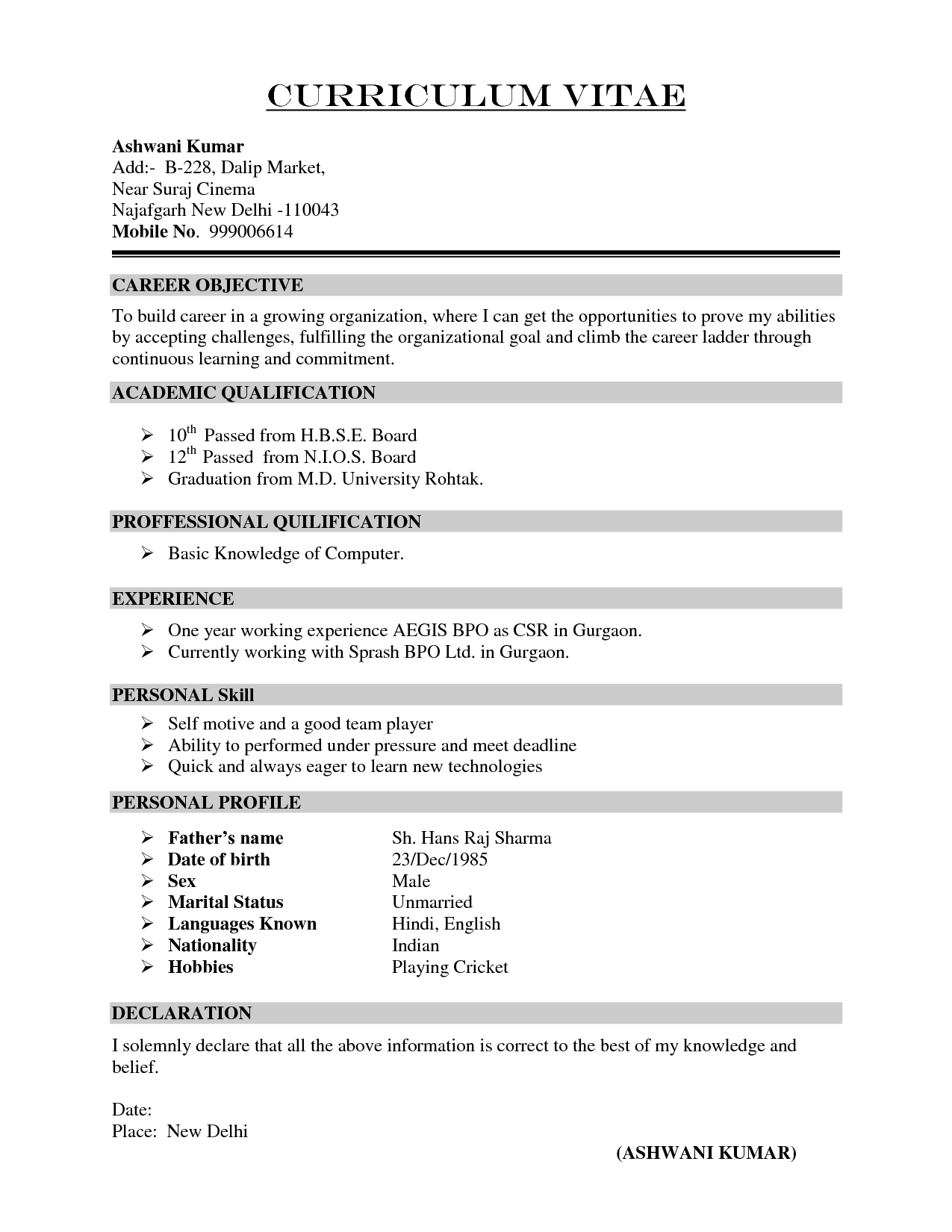 Qualifications For A Resume Examples F Ea A A The Most Resume Resume Formt  Cover Letter Examples  Job Qualifications Sample