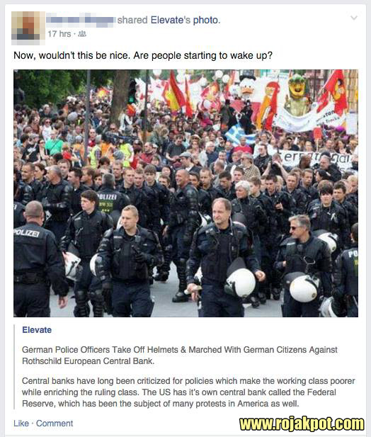 Did These German Police Officers March Against The Rothschilds?