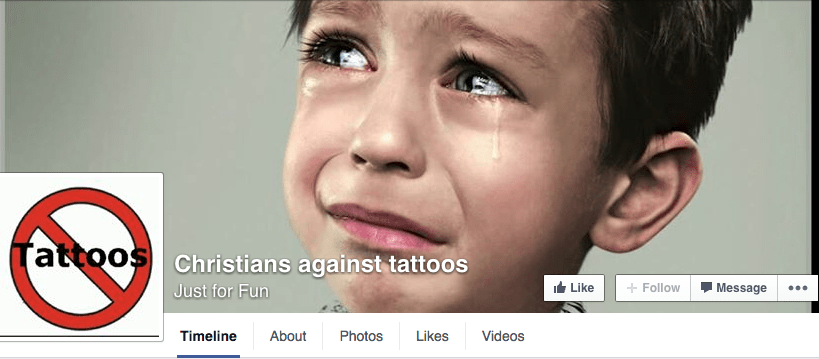 Christians Against Tattoos is a satirical site