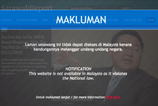 Legal Basis For MCMC's Censorship Of Sarawak Report (Updated!)