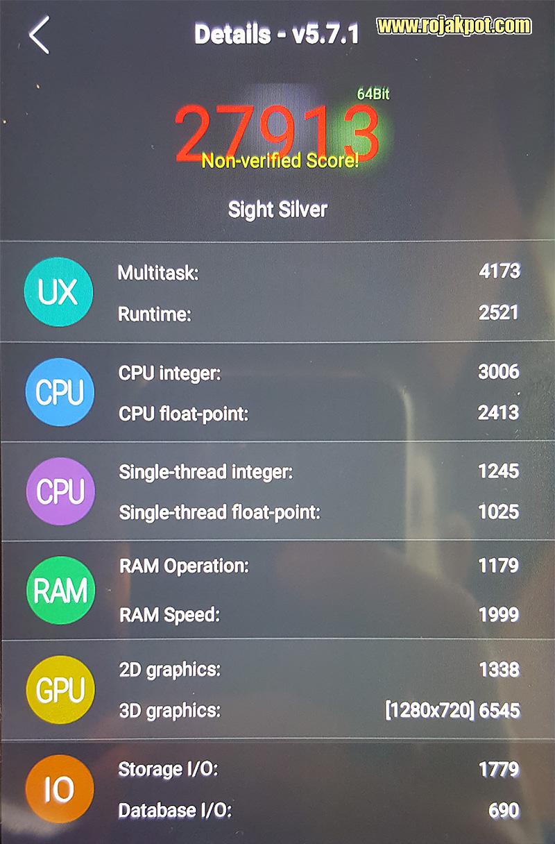 IPRO Sight Silver Antutu 64-bit Results