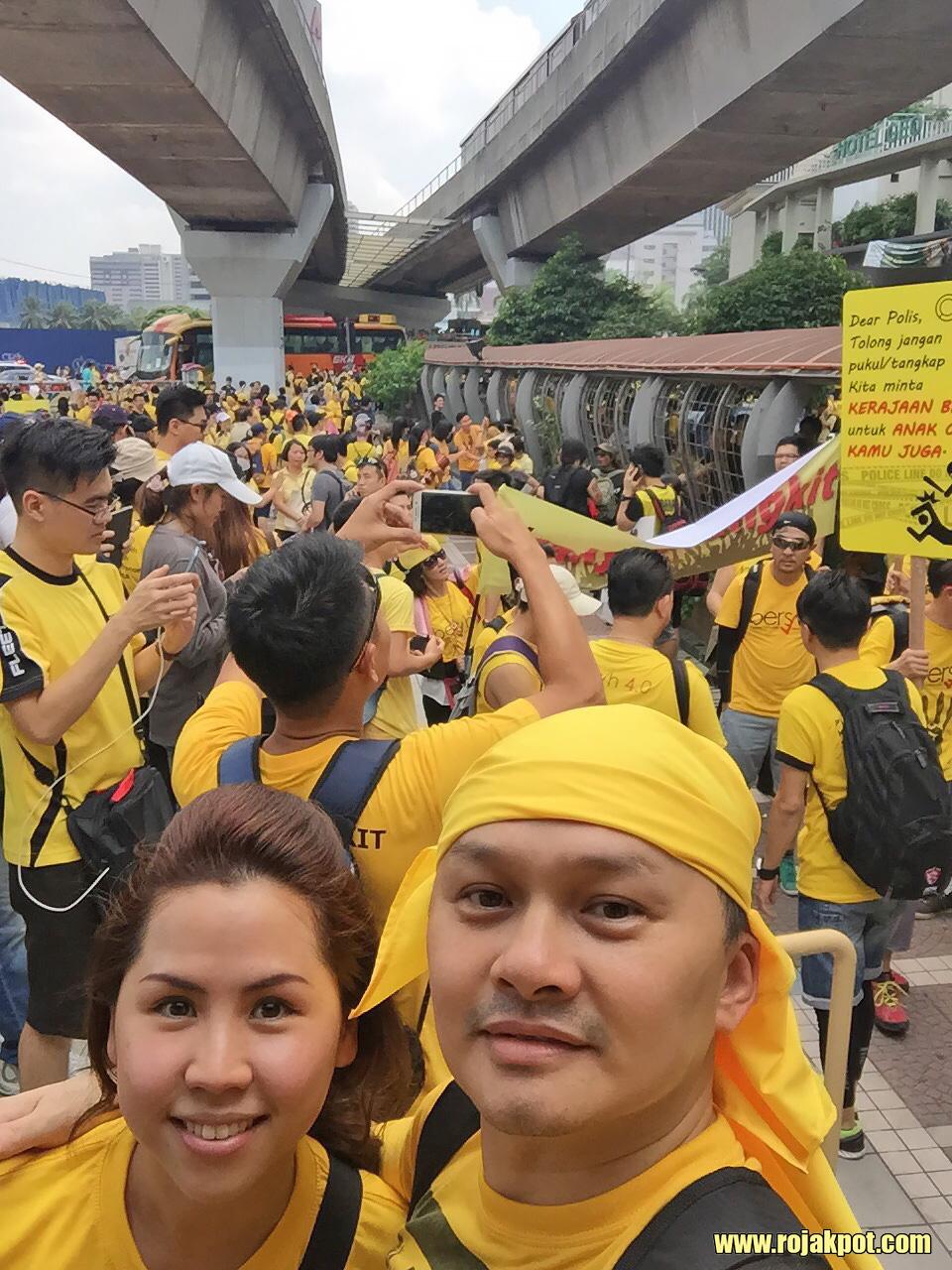 Dr. Michelle Mah at Bersih 4