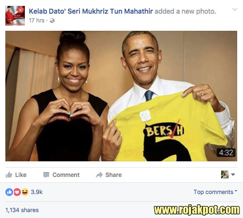 Michelle & Barack Obama Support Bersih 4 & 5