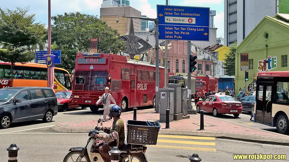 FRU vehicles preparing for the Bersih 4.0 rally