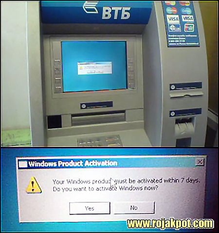 "This picture from June 2007 shows a Russian ATM with the same ""issue""."