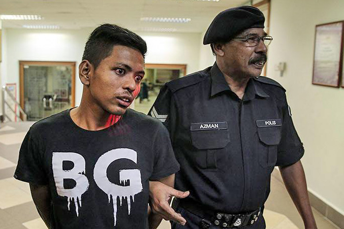 Shahrul Anuar is out on a RM 3,000 bail. Photo credit : Astro Awani