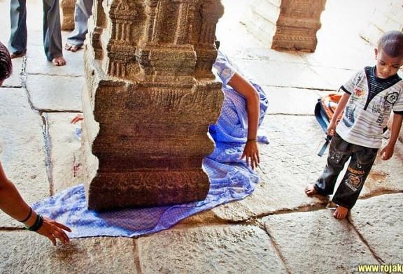 The Hanging Pillar of Lepakshi Temple