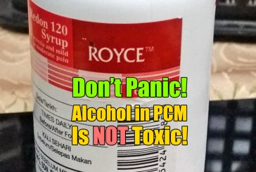 Alcohol In Paracetamol Syrup Is Not Toxic [Updated!]