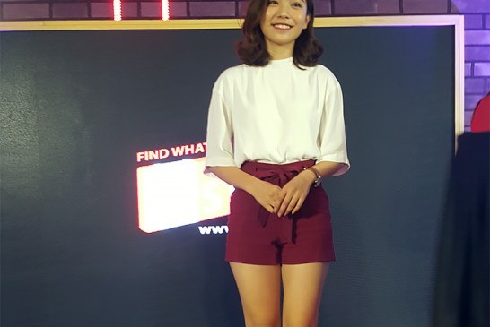 Malaysian actress Emily Chan who joined Haha for this event