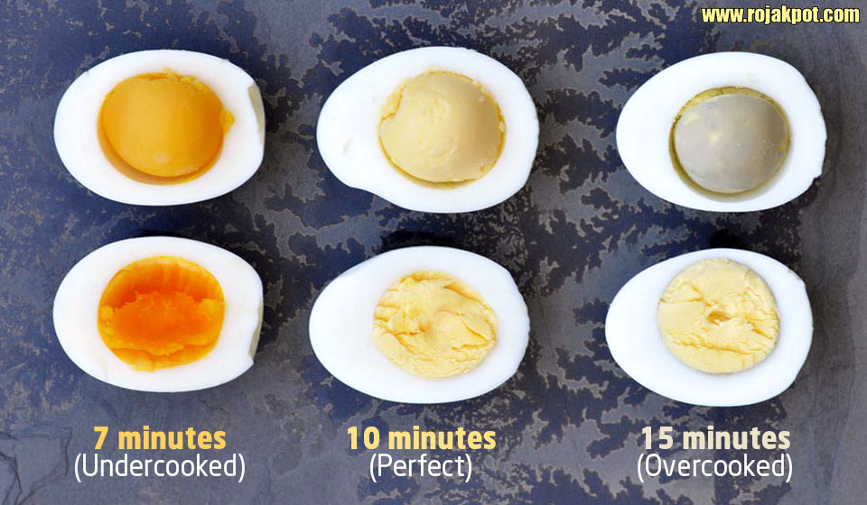 Colour of eggs vs cooking times