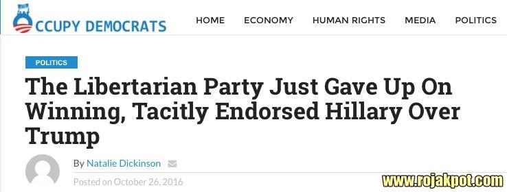 Libertarian VP Candidate Bill Weld Endorsed Hillary?