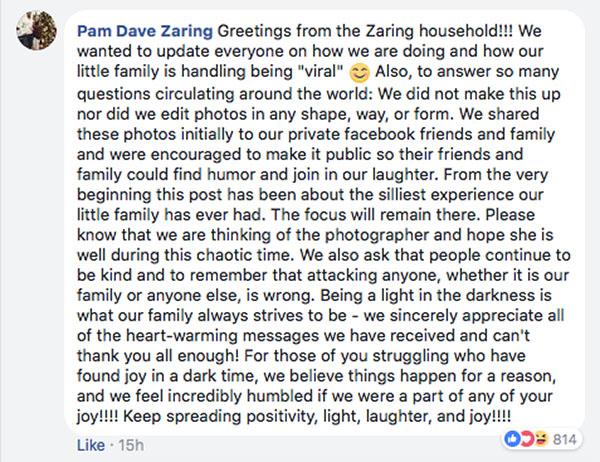 Pam Dave Zaring FB post