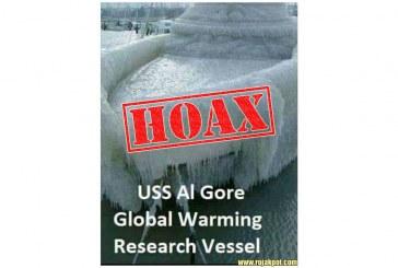 The USS Al Gore Frozen Boat Hoax Debunked!