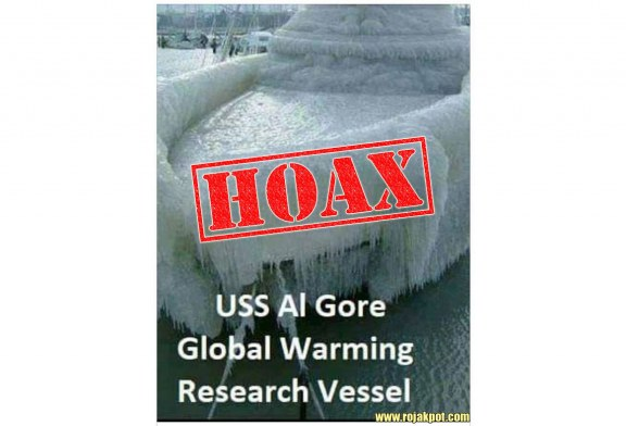 The USS Al Gore Frozen Boat Hoax Debunked!