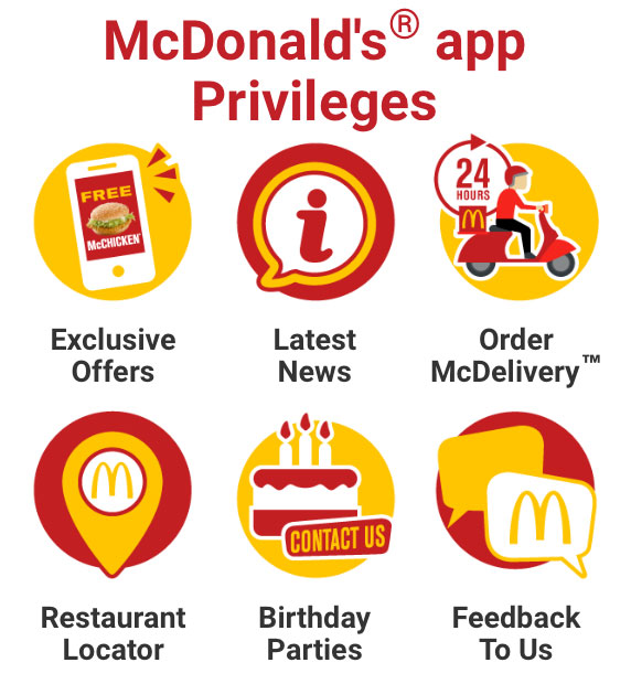 McDonalds McDelivery privileges