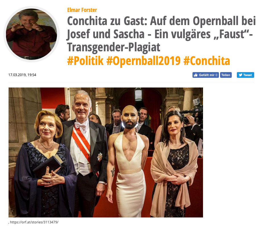 Conchita Wurst at Opernball 2019 proof