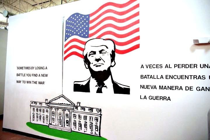 Trump Brownsville children detention facility mural